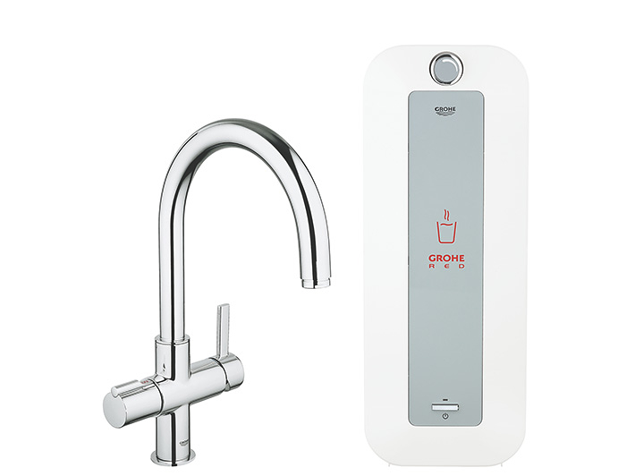 GROHE Red? Faucet and combi-boiler (8 liter)