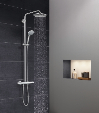 euphoria systems shower systems grohe. Black Bedroom Furniture Sets. Home Design Ideas