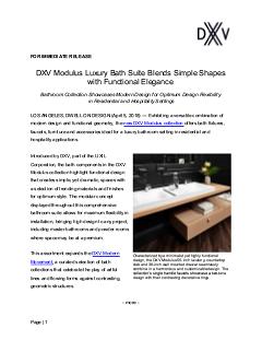 Dwell On Design 2018 Modulus Luxury Bathroom Collection