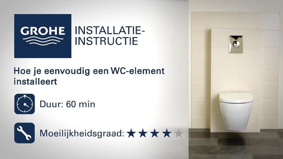 Nieuwe Wc Installeren.Installatievideo Grohe Wc Element Grohe