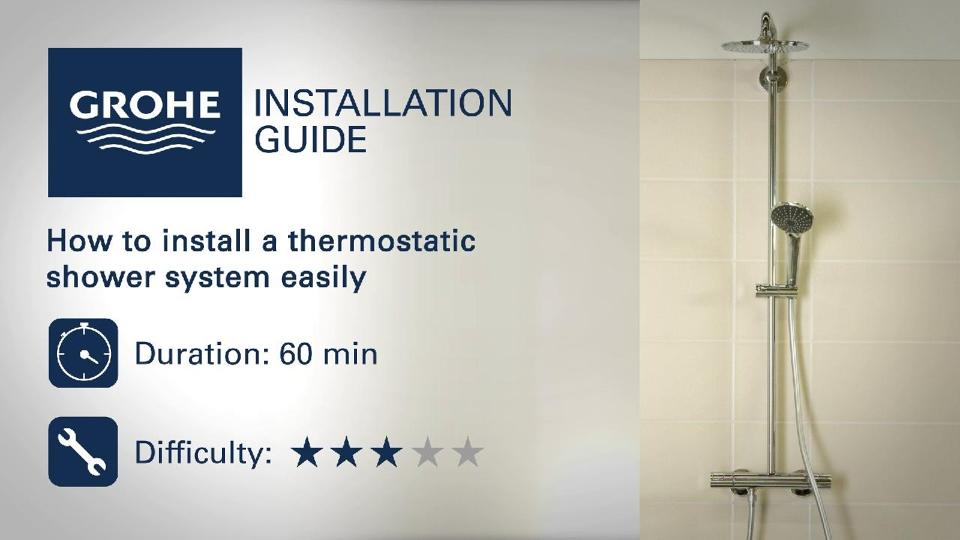 Installation Guide Install A Thermostatic Shower System Grohe