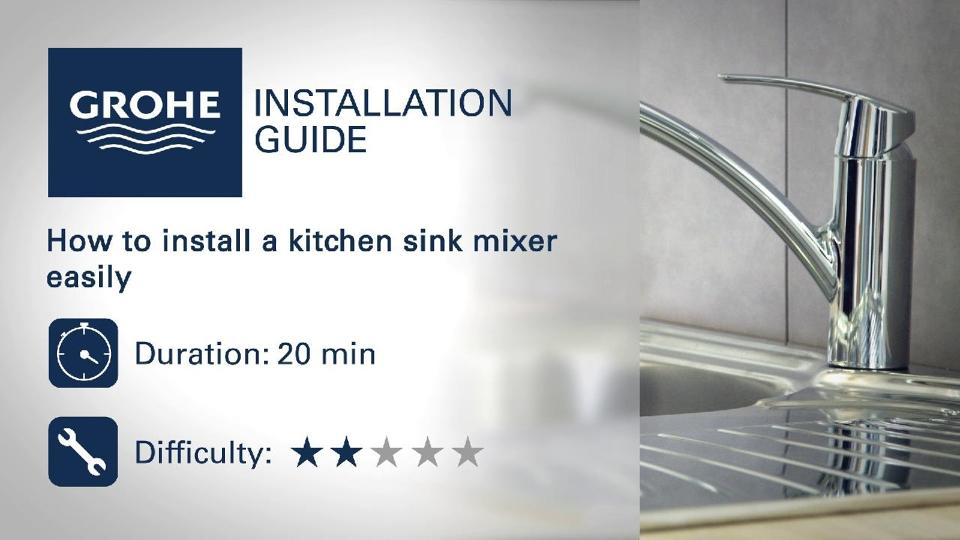 Installation guide - Install a kitchen sink mixer | GROHE