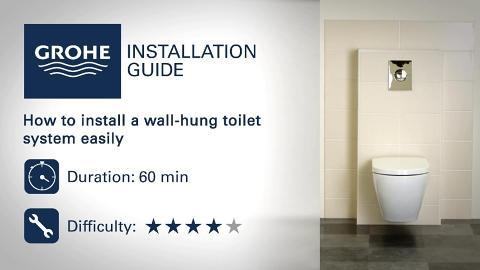 Installation guide - Install a wall-hung toilet system | GROHE