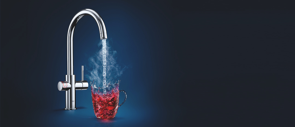 Seriøst GROHE | 100 degrees Celsius hot water, 100 per cent safe and easy UA99