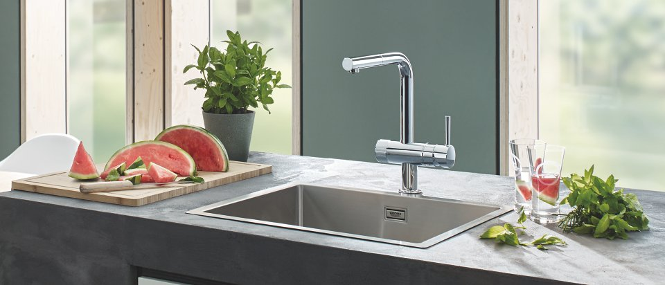 grohe blue pure kj kkenkraner med vannfilter til. Black Bedroom Furniture Sets. Home Design Ideas
