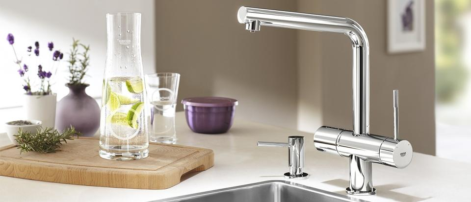 GROHE Blue Chilled & Sparkling Water Filter Kitchen Taps