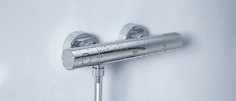 Badkamer Mengkraan Grohe.Een Thermostaatkraan Van Grohe Voor Comfort Veiligheid Grohe