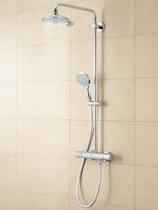 New Tempesta Cosmopolitan Shower system with thermostat for wall mounting