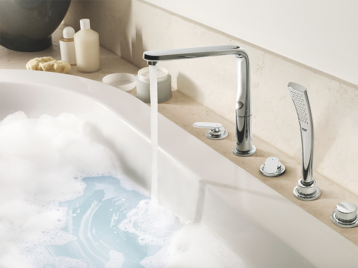 Veris F-digital 5-hole bath/shower combination