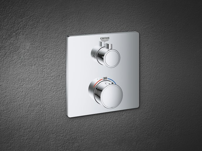 Two-handle thermostats