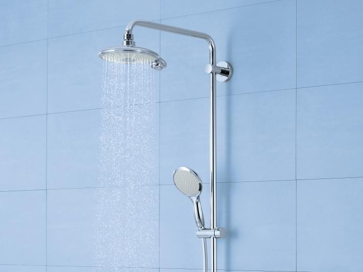 Power&Soul Shower system with thermostat for wall mounting