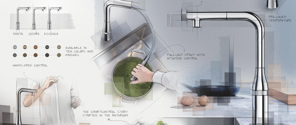 GROHE SmartControl kitchen receives most design awards in 2020
