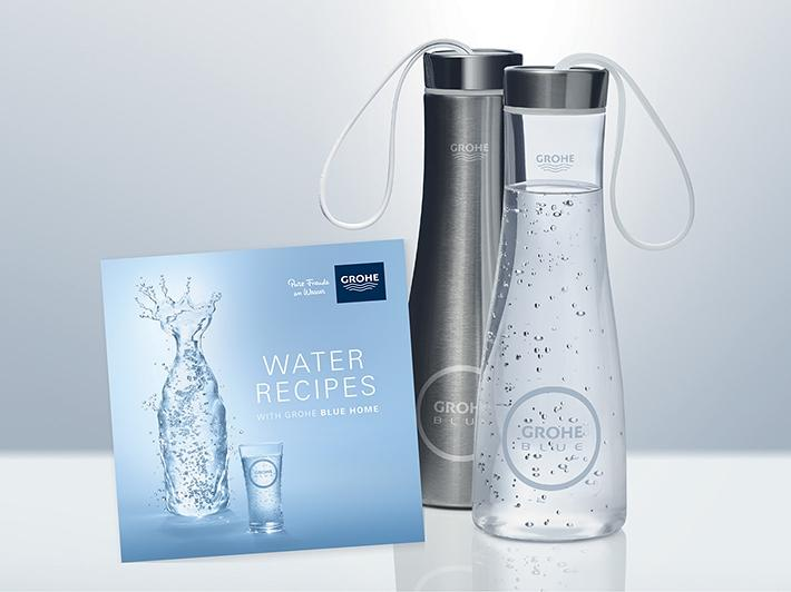 Water Recipes & Water Bottle