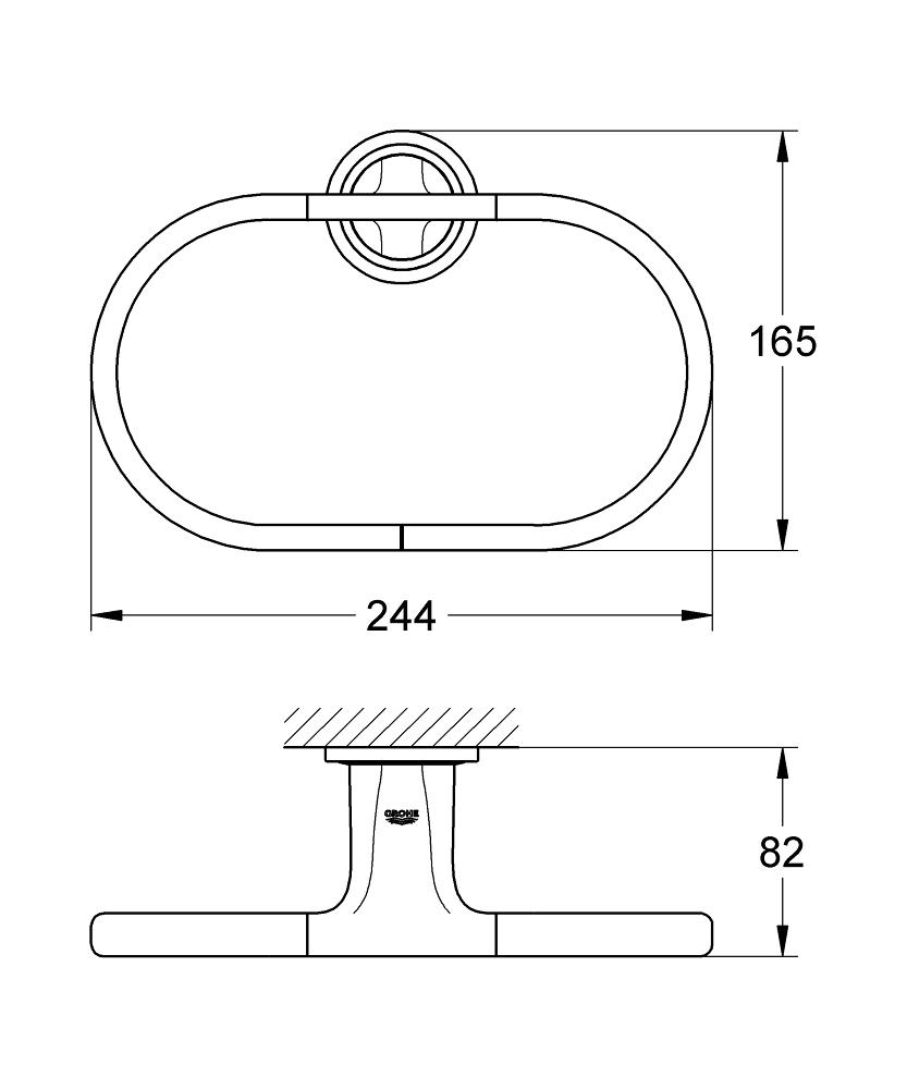 veris towel ring