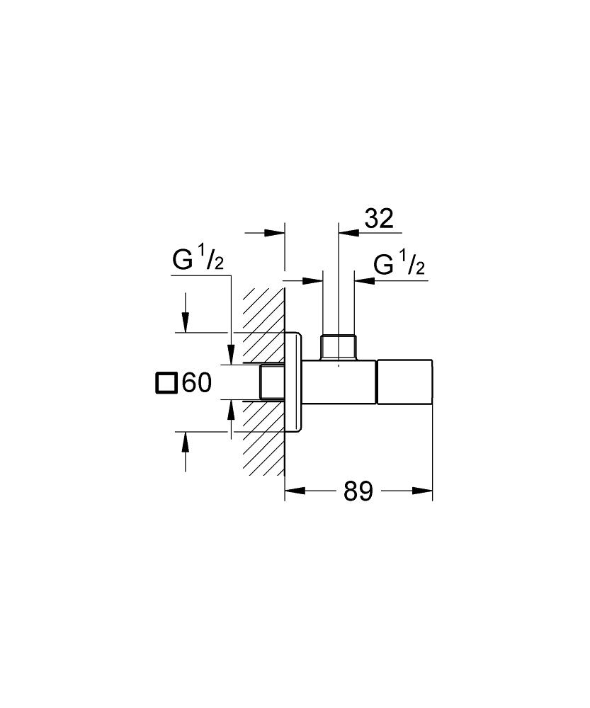 eurocube angle valve 1  2 u2033