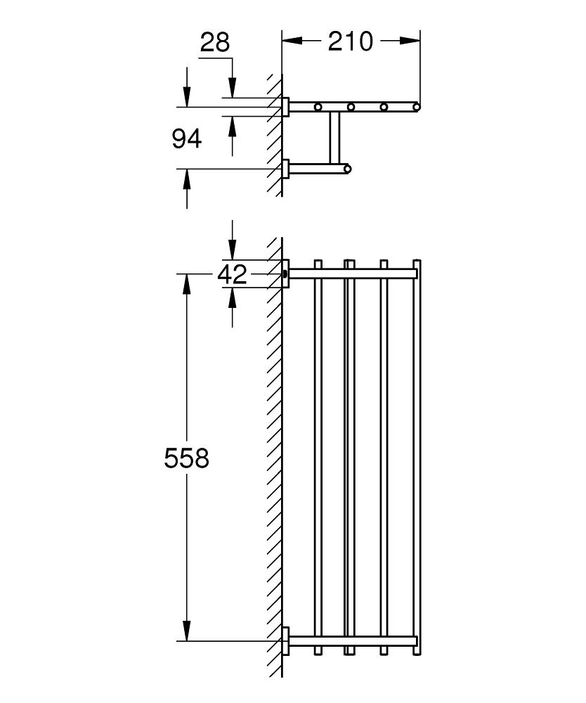 Essentials Cube Multi-towel rack | GROHE