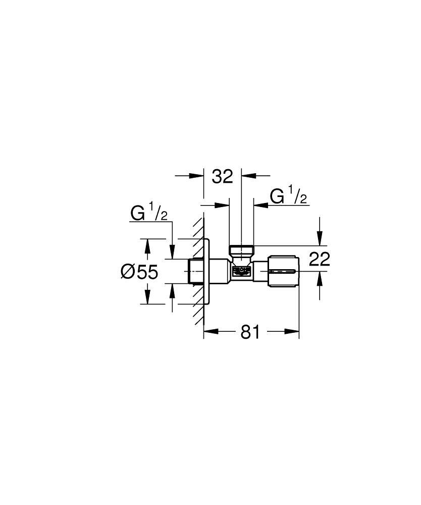 angle valve 1  2 u2033