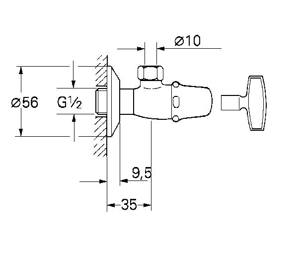 atlanta angle valve 1  2 u2033