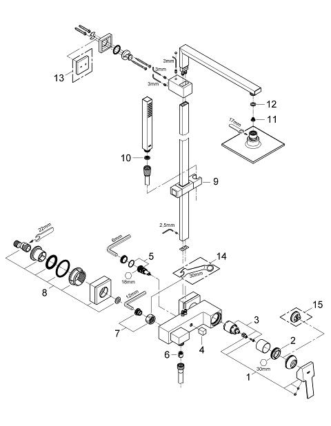 BauMetric Shower system for wall mounting GROHE