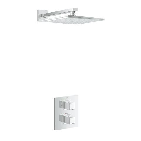 Grohtherm Cube + Rainshower Shower Solution Pack 2