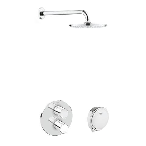 Grohtherm 3000 Cosmopolitan Bath/Shower Shower Solution Pack 2