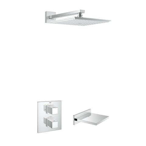 Grohtherm Cube bath/shower shower solution pack 2