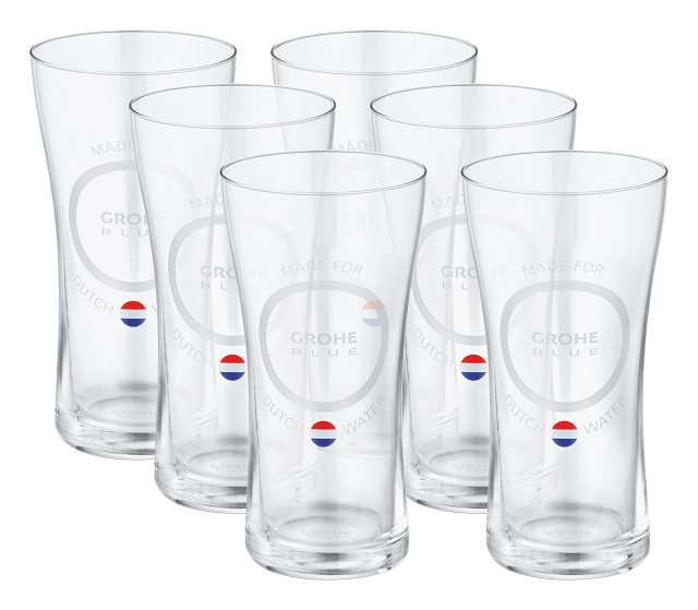 GROHE Blue Water glasses 'Made for Dutch water' (6 pieces)