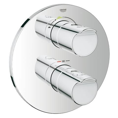 Grohtherm 2000 Thermostat with integrated 2-way diverter for bath or shower with more than one outlet