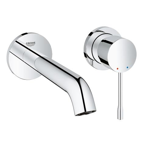 Two-hole basin mixer