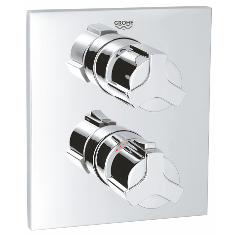 Allure Thermostat with integrated 2-way diverter for bath or shower with more than one outlet
