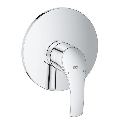 Single-lever shower mixer display