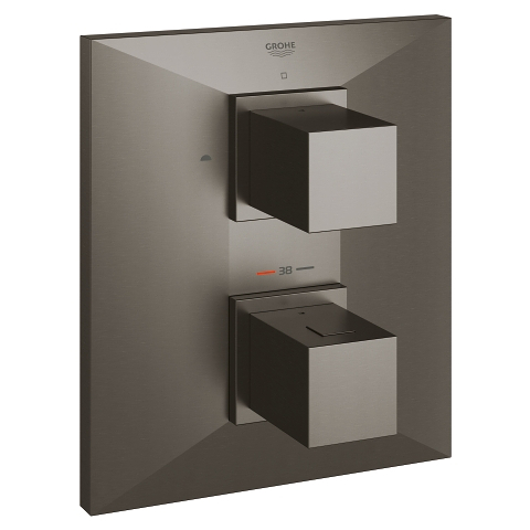 Allure Brilliant Thermostat with integrated 2-way diverter for bath or shower with more than one outlet