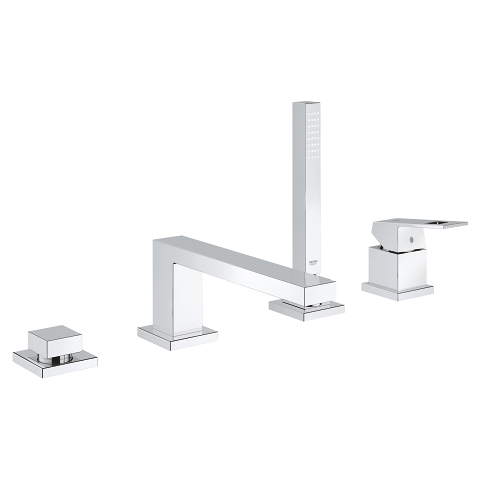 Eurocube 4-hole single-lever bath combination
