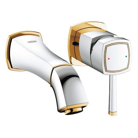 Two-hole basin mixer dummy
