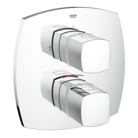 Bath safety mixer with integrated 2-way diverter