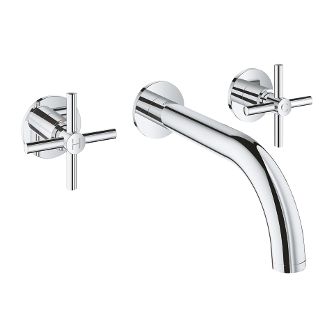 Atrio 3-hole basin mixer