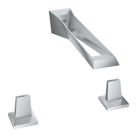 Allure Brilliant Icon 3D 3-hole wall-mount basin mixer