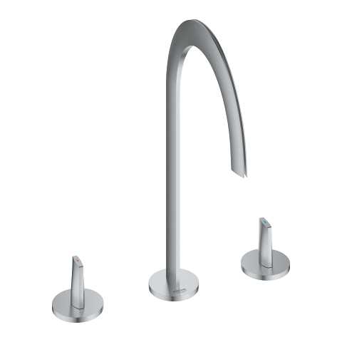 Atrio Icon 3D 3-hole deck-mount basin mixer
