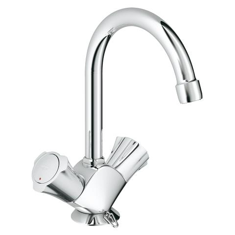 Single-hole basin mixer