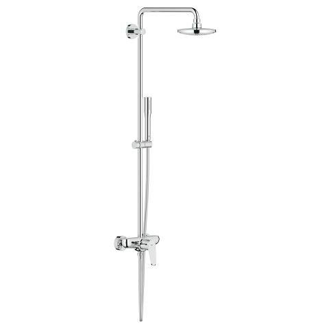 Shower system with single lever mixer for wall mounting