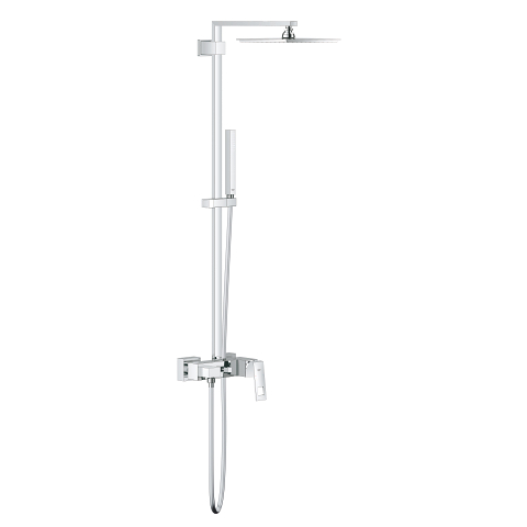 Euphoria Cube System 230 Shower system with single lever mixer for wall mounting