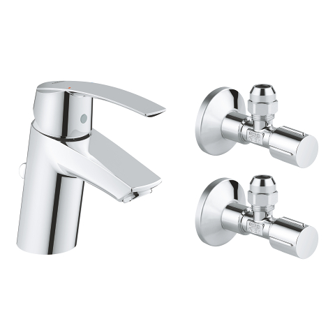 Single-lever basin mixer with angle valves, 1/2″
