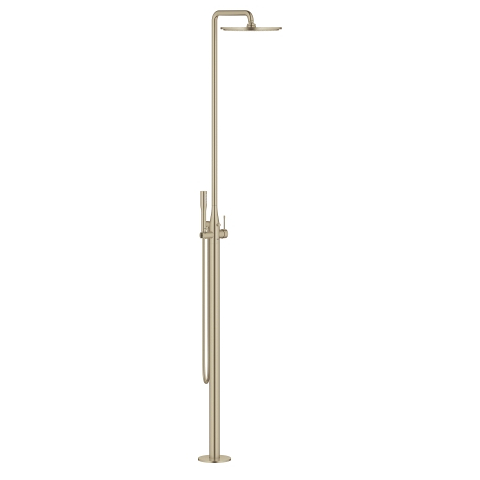 Single-lever free-standing shower system
