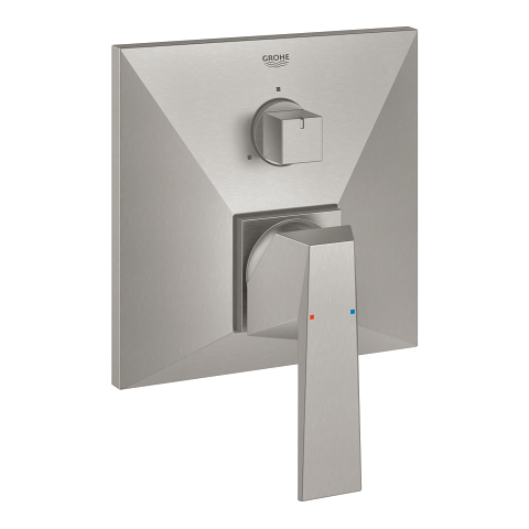 Single-lever mixer with 3-way diverter