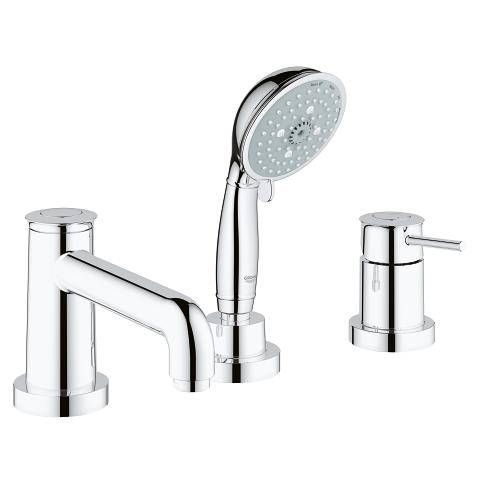 GROHE BauClassic 3-hole bath/shower combination