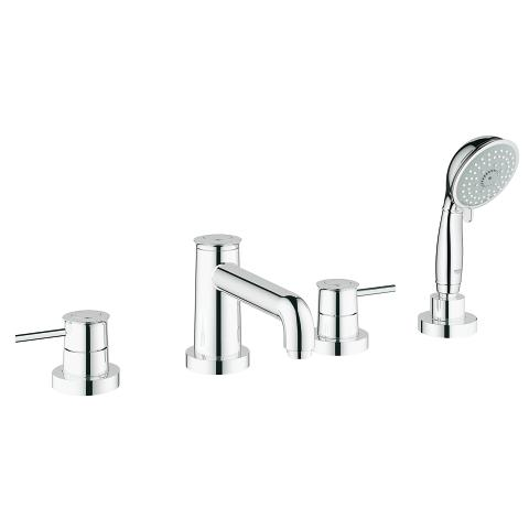 GROHE BauClassic 4-hole bath/shower combination