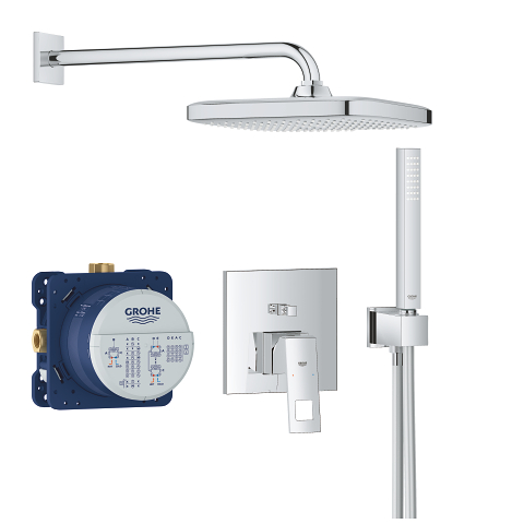 Perfect shower set with Tempesta 250 Cube