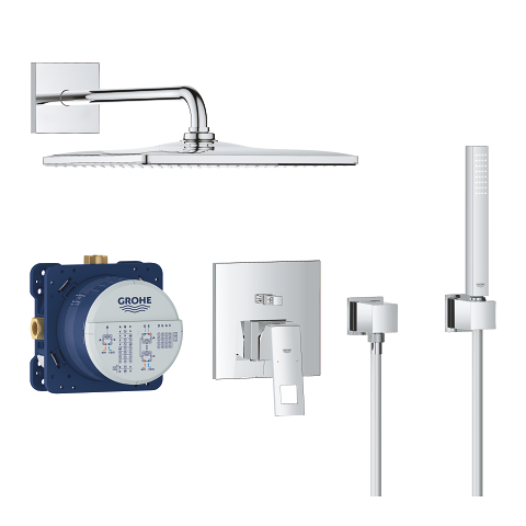 Eurocube Perfect shower set with Rainshower Mono 310 Cube