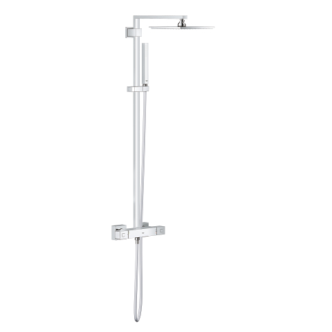 Euphoria Cube System 230 Shower system with thermostatic mixer for wall mounting