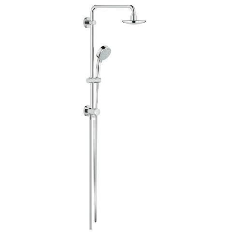 Tempesta Cosmopolitan 160 Shower system with diverter for wall mounting